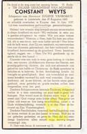 DP Constant Weyts ° Lendelede 1865 † Kuurne 1937 X E. Vanrobays - Images Religieuses