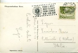 42923 Switzerland, Special Slogan Postmark 1954 Bern Football World Champ.in Switzerland, Circuled Card - 1954 – Schweiz