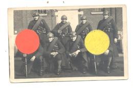 Photo Carte La Garde, Militaires En Uniformes, Armes, équipements. En1928 - Armée Belge - Fort D'Emines (Namur) (b247) - Personaggi