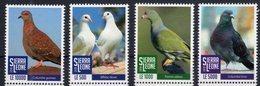 SIERRA  LEONE, 2018, BIRDS, PIGEONS,4v - Birds