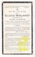 DP Elodie Wielandt ° Pittem 1876 † Gits 1926 X Jules Laleman - Images Religieuses