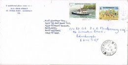 31940. Carta ST. PETER PORT (Guernsey) 1981 A Is. Man. REEXPEDITÉ - Guernsey