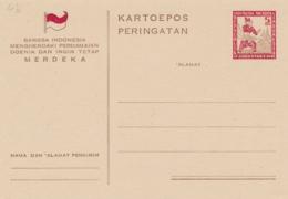 Indonesia / Java - 1946 - 5 Sen Herdenking Onafhankelijkheid, Briefkaart G4b - Ongebruikt - Nederlands-Indië