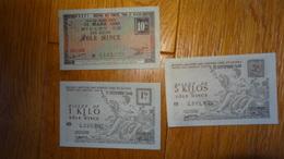 -Billets De Necessite Chambre Des Metiers  Aveyron Section Fonte Fer Et Acier 1948-1949 Tole Mince 1-5 - 10 Kgs - Chambre De Commerce