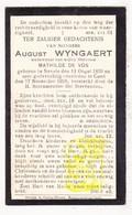 DP August Wyngaert Wyngaerd ° Nevele 1839 † Gent 1928 X Mathilde De Vos Devos - Images Religieuses