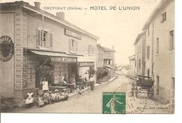 RHONE  CHEVINAY  HOTEL DE L'UNION ANIMEE ECRITE - Frankrijk