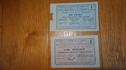 -Billets De Necessite Chambre De Commerce  Aveyron Section Metaux Non Ferreux App Electrique Tube Isolateur 1949-1950 - Chambre De Commerce