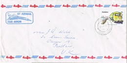 31942. Carta Aerea GWERU (Zimbabwe) 1983. Cominications Stamp - Zimbabwe (1980-...)