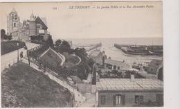 76  Le Treport  Le Jardin Public  Et La Rue Alexandre Papin - Le Treport