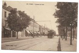 51-REIMS-Avenue De Laon...1925  Animé  Tramway - Reims