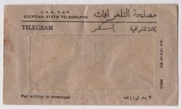 EGYPTIAN STATE TELEGRAPHS,TELEGRAM 1952-1953 COVER - Ägypten