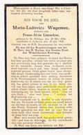 DP Maria L. Wageman ° St.-Niklaas 1856 † Lokeren 1930 X Frans A. Lintacker - Images Religieuses
