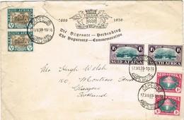 31943. Carta CAPETOWN (South Africa) 1939. Conmemoration The HUGUENOTS - África Del Sur (...-1961)