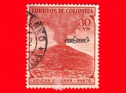 COLOMBIA - Usato -  1954 - Vulcano Galeras, Pasto - 30 - Scott AP40 - P.aerea - Unificado - Colombia