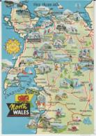 Postcard - Map - North Wales - Card No..n.0623l - Unused Very Good - Postcards
