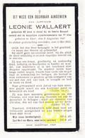 DP Dienstmeid Leonie Wallaert ° Ieper 1847 † 1931 / Fam. Bouquet - Images Religieuses