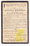 DP Henricus Wierinckx ° Lubbeek 1836 † 1910 X Maria J. Roelants - Images Religieuses