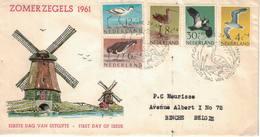 Nederland. FDC. 1961. Thème: Les Oiseaux - FDC