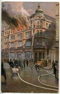 Feuerwehr Beim Brand Im Kaufhaus Ull....(?)  - Ca.100 ++ Jahre Alt (?) Ungelaufen - Non Circulé - Sapeurs-Pompiers
