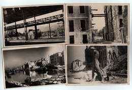 (83) 4 Cartes Photo De Toulon Après La Libération, Génie Militaire, Quais , Rue De Toulon, La Poisonnerie - Toulon