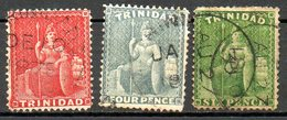 TRINITE & TOBAGO - (Colonie Britannique) - 1872 - N° 28 à 30 - (Lot De 3 Valeurs Différentes) - (Victoria) - Trinité & Tobago (...-1961)