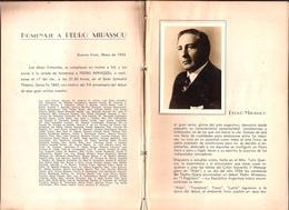 OPERA Teatro Colon Program - Tribute To Argentine Tenor PEDRO MIRASSOU Year 1943 - Programas