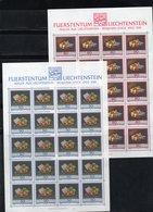 "LIECHTENSTEIN AÑO 1990 SERIE IVERT 931/33, PLIEGOS   ""  PINTURAS ""     MNH. - Liechtenstein"