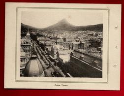 Lot De 3 Images Afrique Du Sud Cape Town Table Mountain Devil's Peak Parliament House Government Avenue - Vieux Papiers