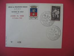 Lettre Journée Du Timbre 1943  Dole-Du-Jura  Avec Famille Du Prisonnier - France
