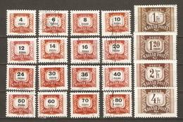 Hongrie 1958/69 - Timbres Taxes -  Série Complète° 216/34 - Timbres