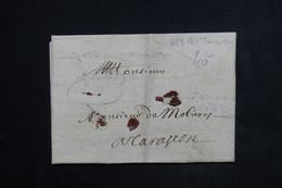 FRANCE - Lettre ( Pliage En Enveloppe ) De Aix Pour Tarascon En 1669 - L 23529 - Marcophilie (Lettres)