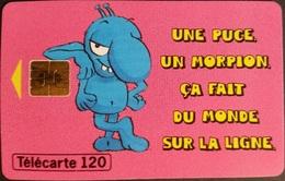 Telefonkarte Frankreich - Werbung - Morpion - 120 Units - 01/96 - 1996
