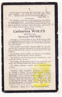 DP Catharina Wolfs ° Kortrijk-Dutsel Holsbeek 1850 † Linden Lubbeek 1909 X Adrianus Peeters - Images Religieuses