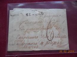 Lettre De 1824 Au Depart De Beaune à Destination De Paris - 1801-1848: Voorlopers XIX