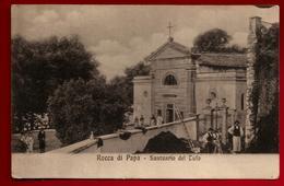 Jolie CP Ancienne Animée Italie Rocca Di Papa Santuario Del Tufo - CAD 12-05-1913 - Curé Abbé Lissat St Martin Valmeroux - Italië