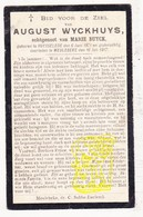 DP August Wyckhuys ° Ruiselede 1871 † Meulebeke 1917 X Marie Buyck - Images Religieuses