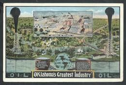 +++ CPA - Amérique - Etats Unis - OKLAHOMA - Greatest Industry - Oil Refinery   // - Etats-Unis