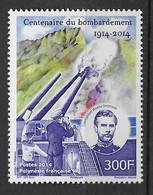 2014   Polynesie Française   N° 1072  Nf**  MNH. Centenaire Du Bombardement - Polynésie Française