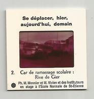 Diapositive Car De Ramassage Scolaire Rive De Gier 42 Loire - Diapositives