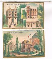 Chromos   2  A LA VILLE DE ST DENIS NOUVEAUTES PARIS .......... CH378 - Autres