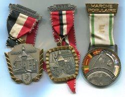 X417 LOT DE 3 MEDAILLES DE MARCHE POPULAIRE SUISSE MEDALS SWITZERLAND - Médailles & Décorations