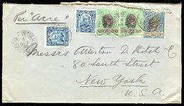 BRAZIL. 1908. Pernambuco - USA. Multifrkd Mixed Issues. - Brazil