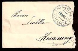 """BOLIVIA. C.1920's. Llallagua - Huanuny. Env / Unfkd. """"Correos / Franca"""" Blue Pmk Lack Of Stamps. Interesting. - Bolivien"""
