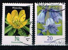 Bund 2017, Michel# 3314 - 3315 O Blumen, Winterling + Hasenglöckchen - BRD
