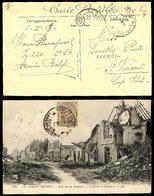 BELGIUM. 1918. WWI. BELGIAN Military Mail To Cabo Verde / St Vincent. Special Cachet + Arrival Cds. V Scarce Military De - Belgium