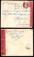 PORTUGAL-CABO VERDE. 1945. Praia - Portugal. Fkd CENSORED Mail Env / CMPT 5 (xxX) + Pmk Label (xxx). VF. - Portugal
