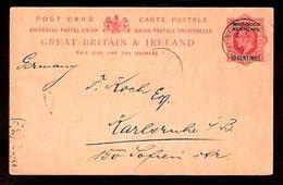 MARRUECOS - British. 1907. Tangier - Germany. BPO / Ovptd Stat Card / 10c. - Marocco (1956-...)