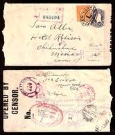 USA. 1918. NY - Mexico / Chihuahua. Registr Stat Env + Adtl + Censored. - United States