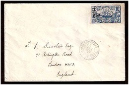 FRENCH COLONIES. 1927. New Caledonia. Paagoumene - UK. Frd Env. Nice Cds Town Cancel. - France (former Colonies & Protectorates)