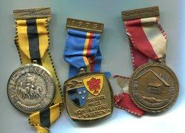 X419 LOT DE 3 MEDAILLES DE MARCHE POPULAIRE SUISSE MEDALS SWITZERLAND - Médailles & Décorations